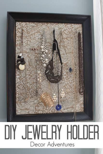 DIY Jewelry Holder » Decor Adventures