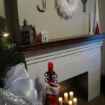 Fur, Feathers and Glitter on the Mantel