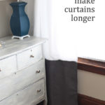 How to Make Curtains Longer + Living Room Update
