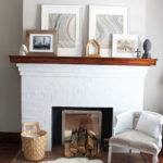 Everyday Winter Mantel Decorating