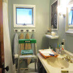 Bathroom Updates: Primed Ceiling and Painted Heat Register