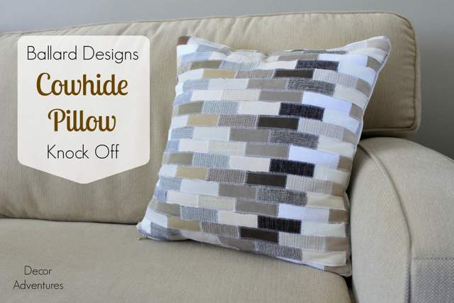 Ballard Designs Cowhide Pillow Knock Off