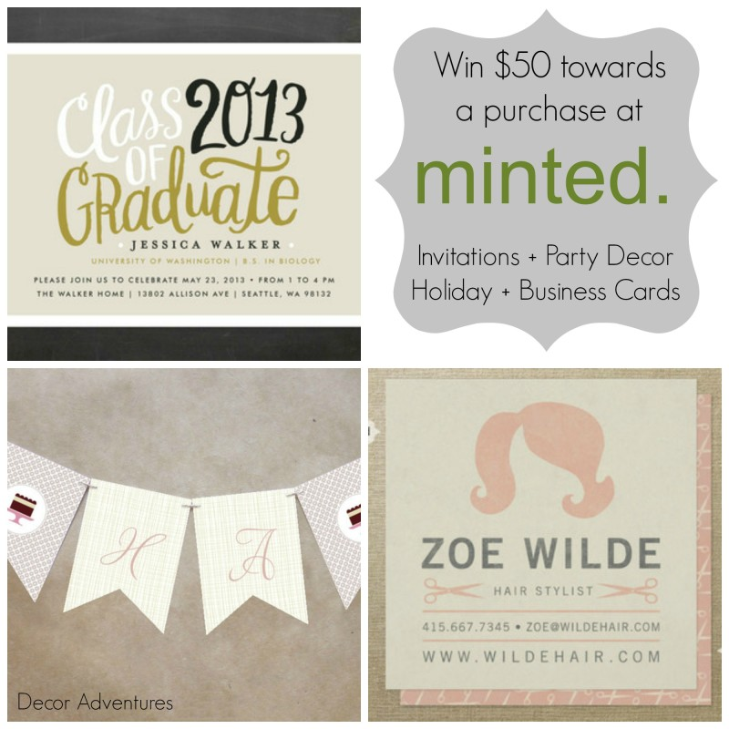 Invitation Ideas Minted Giveaway