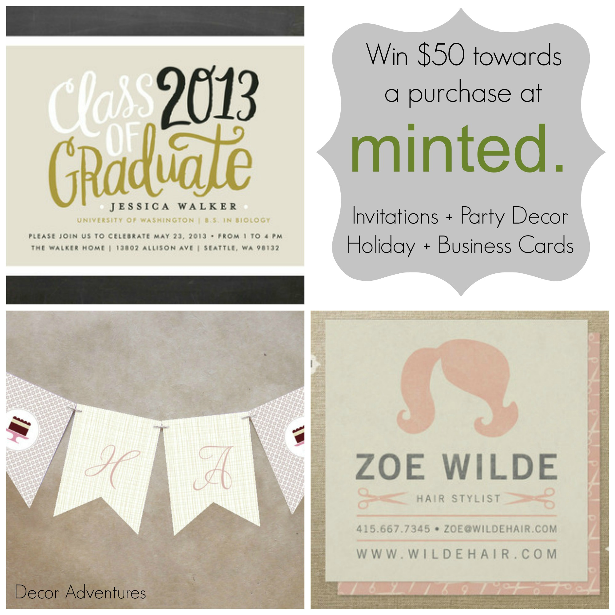 Invitation Ideas + Minted Giveaway » Decor Adventures