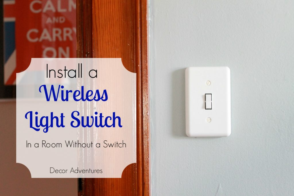 how to add a light switch
