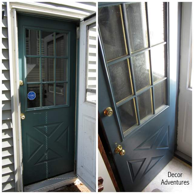 Best way to paint metal storm door how to paint a screen for How to spray paint doors