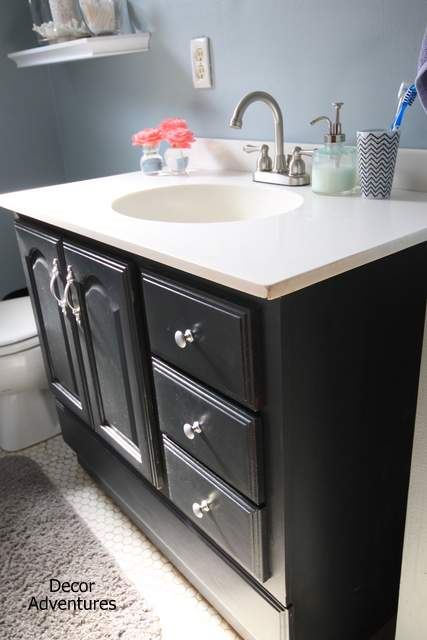 bathroom vanity makeover 187 decor adventures 18151