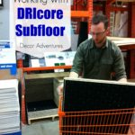 Working with DRIcore Subfloor in a Basement