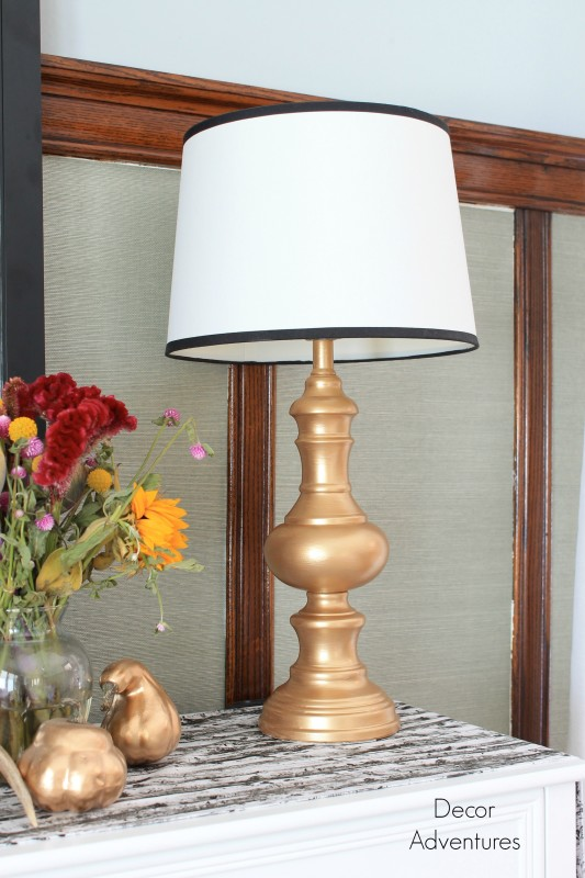 Gold Lamp Makeover