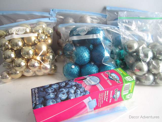 organize christmas ornaments - How To Organize Christmas Decorations