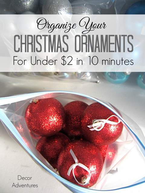 How to Organize Christmas Ornaments