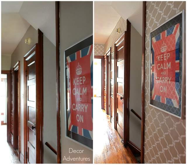 Hallway with Stencil