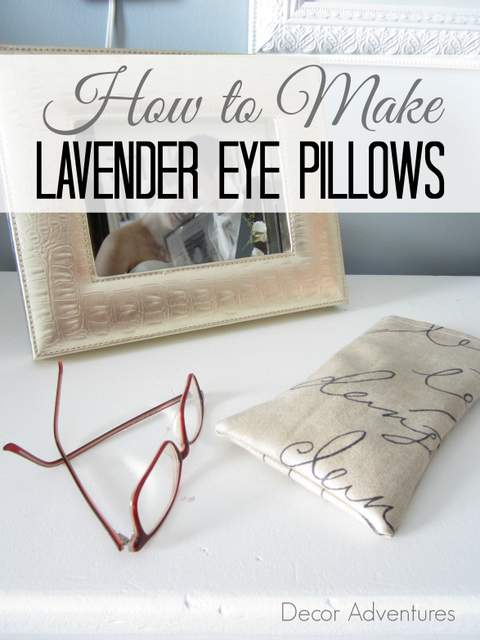 How to Make Lavender Eye Pillows