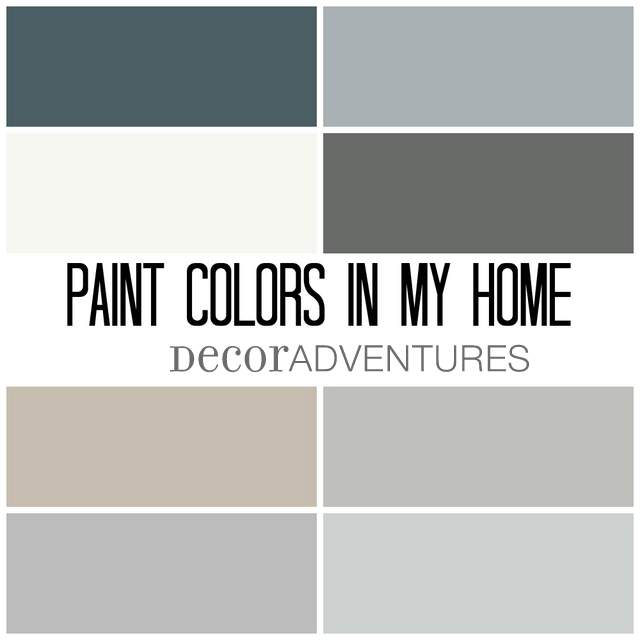 Paint colors in my home free printable decor adventures for Grey white paint colors