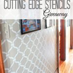 Hallway Makeover + Cutting Edge Stencil Giveaway