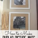How to Make Burlap Photo Mats