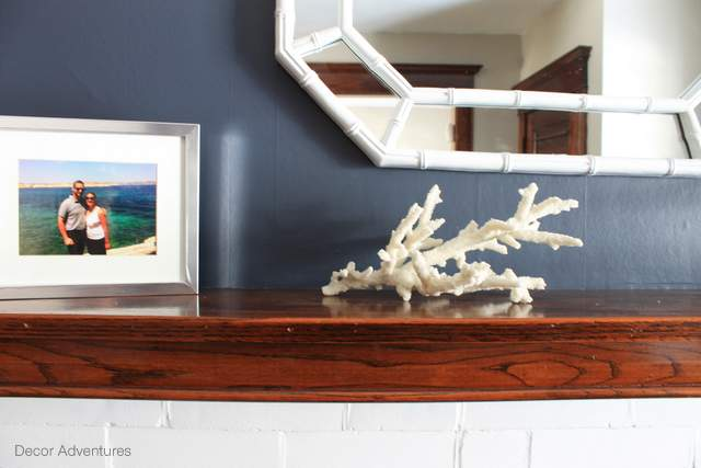 Coral Wood White Navy Fireplace
