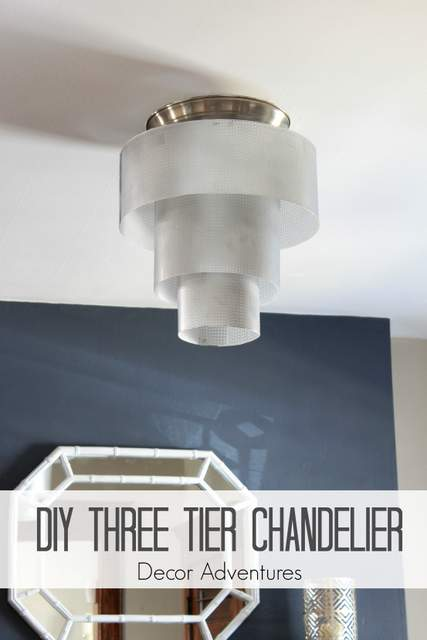 DIY Three Tier Chandelier