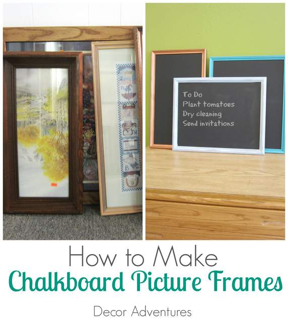 How to Make Chalkboard Picture Frames u00bb Decor Adventures