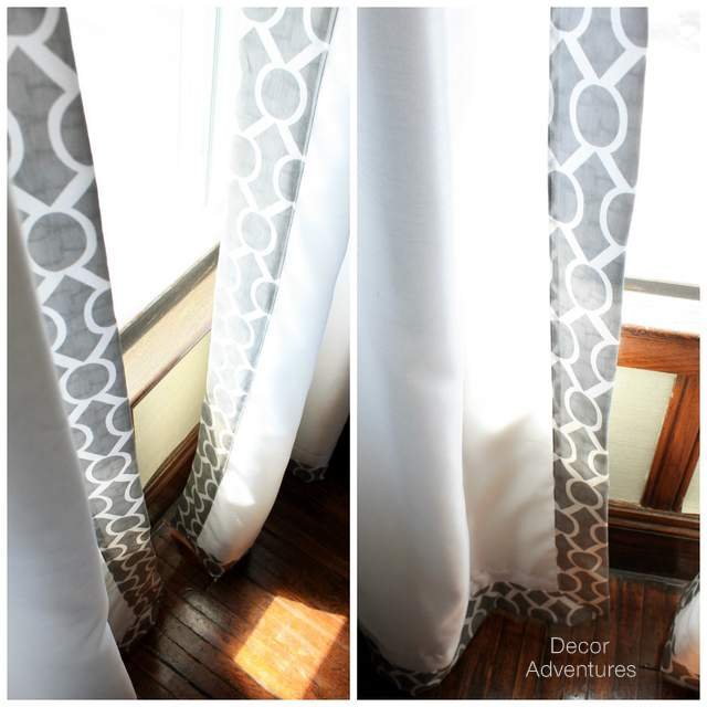 Gray Valances With White Trim : White curtains with grey trim curtain menzilperde