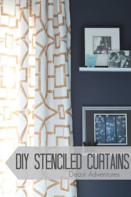 DIY Stenciled Curtains » Decor Adventures