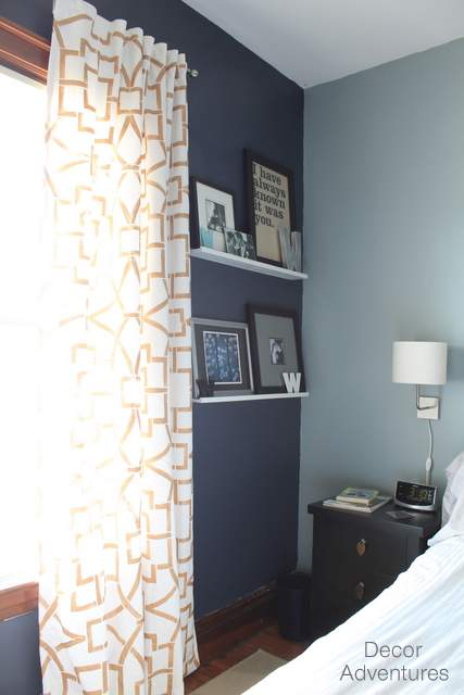 oops i painted a navy accent wall again decor adventures. Black Bedroom Furniture Sets. Home Design Ideas