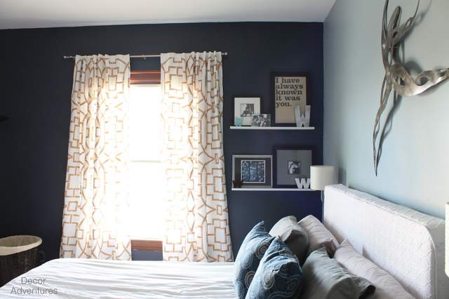 Dark Blue Accent Wall Bedroom delighful dark blue accent wall bedroom walls and more with