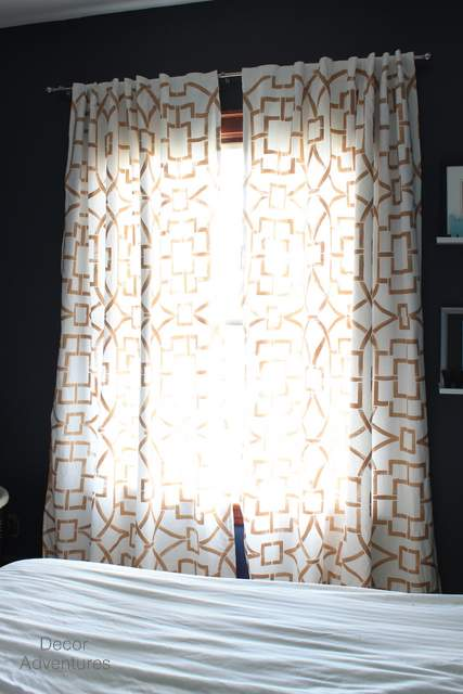 DIY Stenciled Curtains Decor Adventures