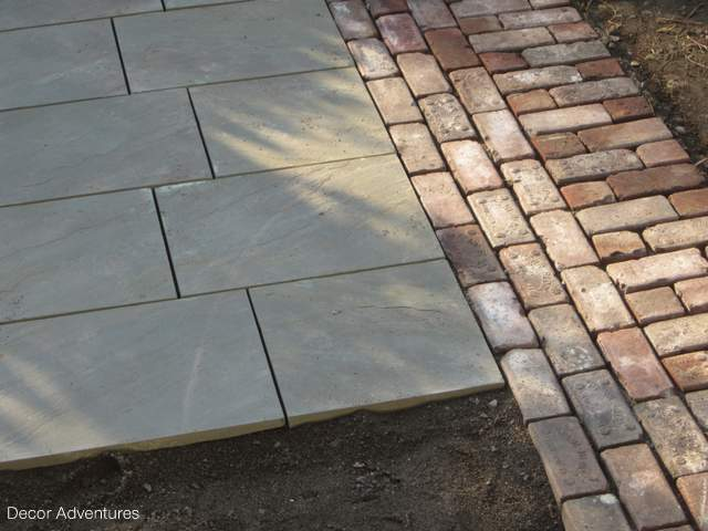 Starting the Backyard Makeover + Our New Flagstone Patio » Decor ...