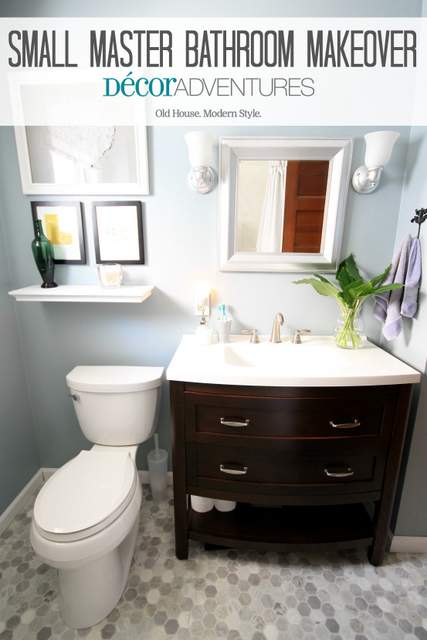 Small master bathroom makeover decor adventures for Makeovers for small bathrooms