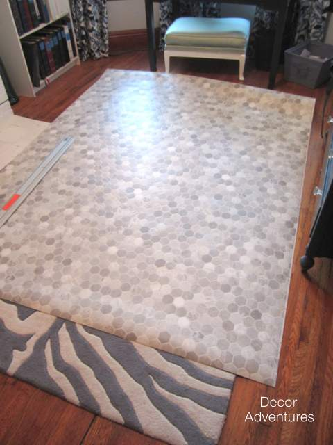 How To Install A Sheet Vinyl Floor Decor Adventures - Installing vinyl flooring in bathroom
