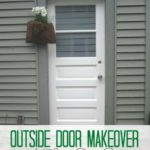 Outside Door Makeover + Front Door Paint