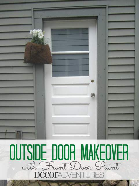 Outside Door Makeover