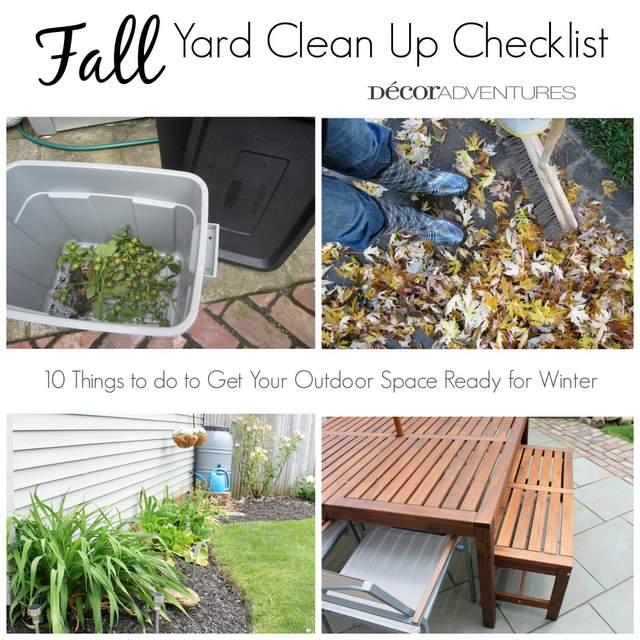 Fall Backyard Cleanup : Fall Yard Clean Up Checklist ? Decor Adventures
