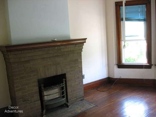 Old House Modern Fireplace Makeover Office Update