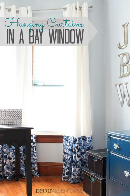 How To Put Curtains In A Bay Window How to Dress a Bay Window