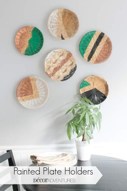 Painted Plate Holders Makeover