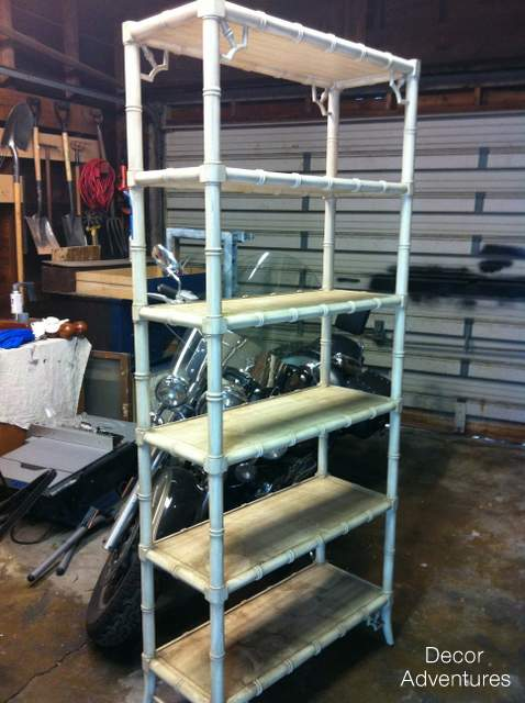 Bamboo Shelves Before