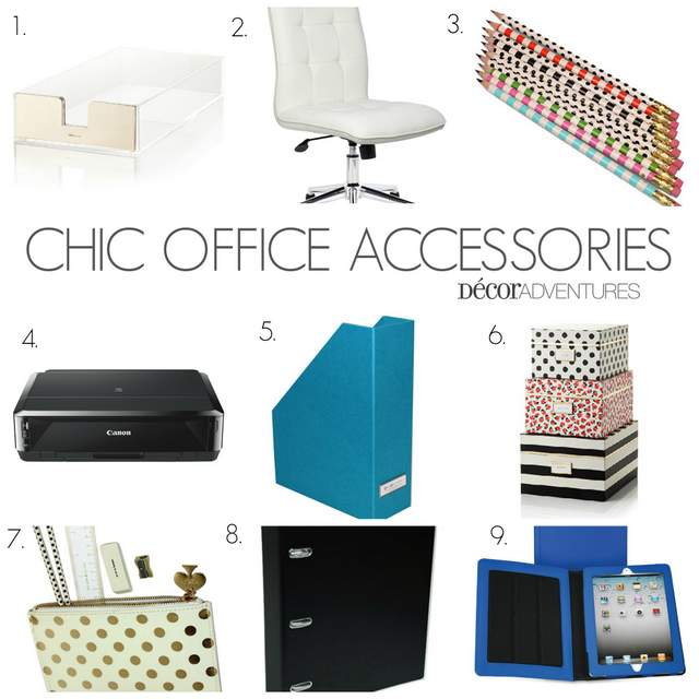 chic office supplies chic office accessories 187 decor adventures 13530