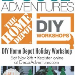 DIY Home Depot Workshop – Lighted Holiday Tree