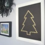 Gold Thumbtack Christmas Tree Wall Art
