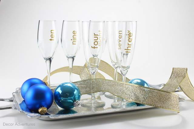 New Year's Even Countdown Champagne Glasses
