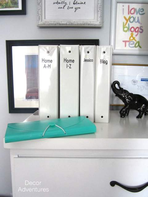 a fun way to label binders decor adventures