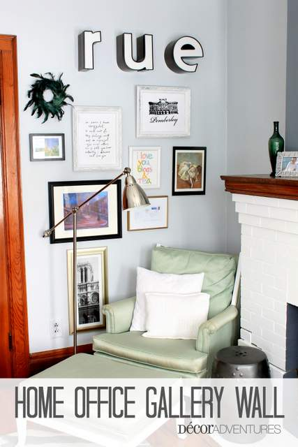 Home Office Gallery Wall » Decor Adventures