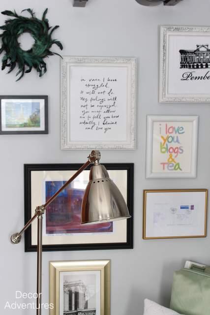 Por Home Office Gallery Wall