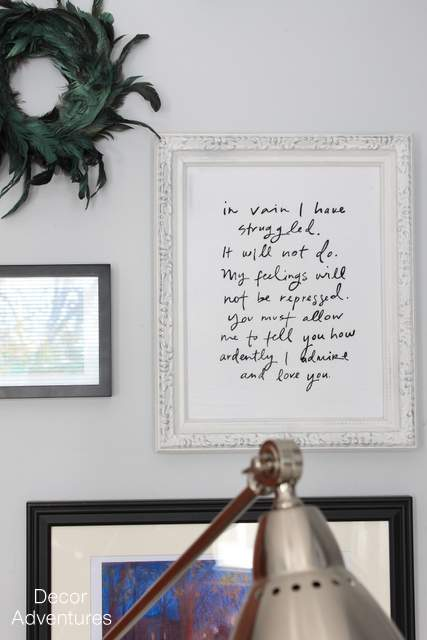 Mr Darcy Wall Art Quote
