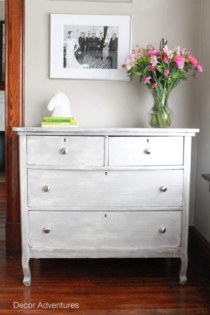 Seven Layer Silver Dresser Makeover