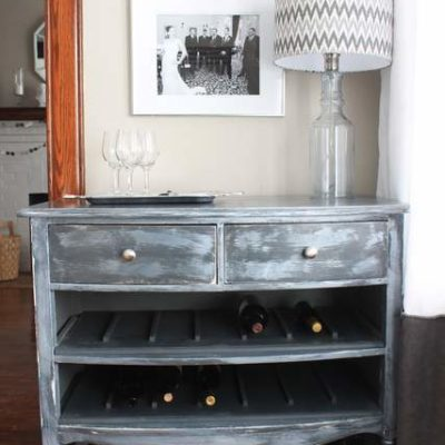 Unique Wine Rack from an Old Dresser