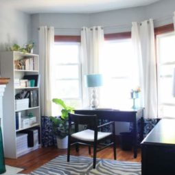 Bright + Modern Home Office Makeover