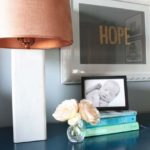 DIY Marble Tile Lamp + Nightstand Makeover + Giveaway